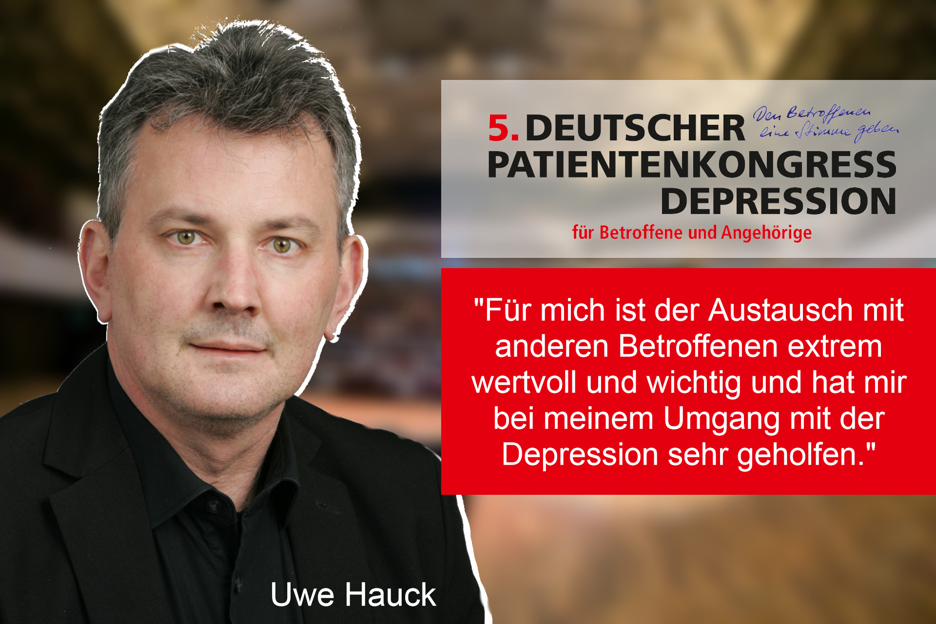 5. Deutscher Patientenkongress Depression